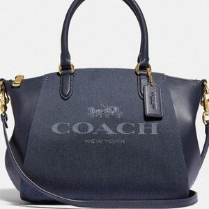 COACH Horse &Carriage Jacquard Elise Satchel C3970